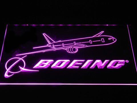Boeing LED Neon Sign - Purple - SafeSpecial