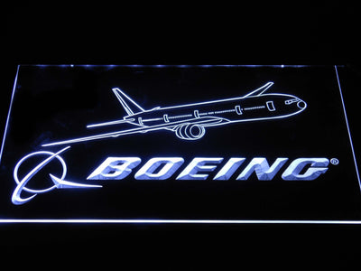 Boeing LED Neon Sign - White - SafeSpecial