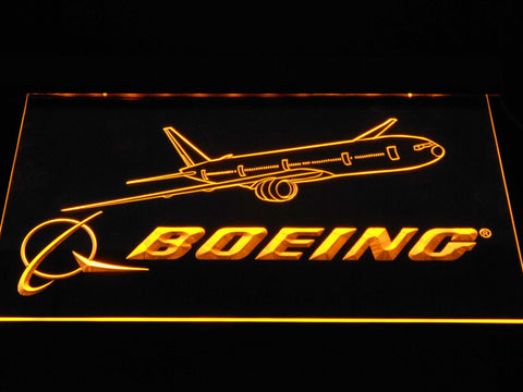 Image of Boeing LED Neon Sign - Yellow - SafeSpecial