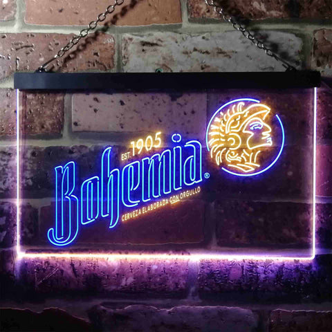 Image of Bohemia Beer Logo 1 Neon-Like LED Sign - Dual Color