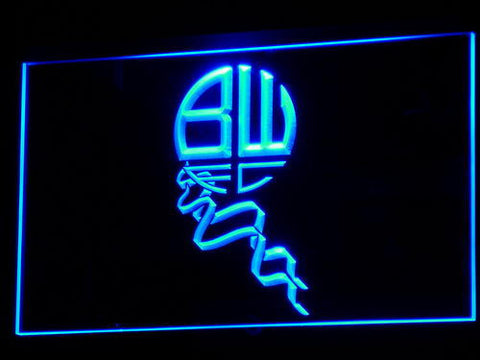 Bolton Wanderers FC LED Neon Sign - Legacy Edition - Blue - SafeSpecial