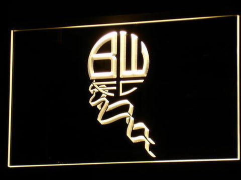 Bolton Wanderers FC LED Neon Sign - Legacy Edition - Yellow - SafeSpecial