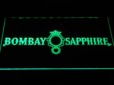Bombay Sapphire LED Neon Sign - Green - SafeSpecial