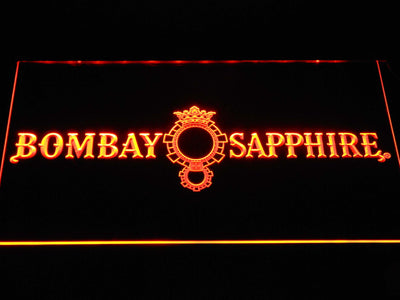Bombay Sapphire LED Neon Sign - Orange - SafeSpecial