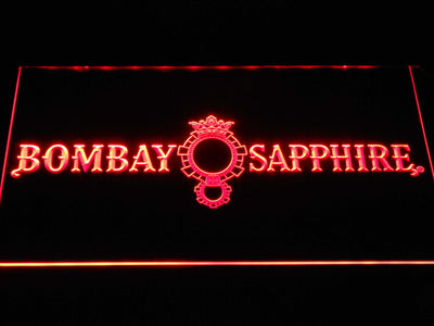 Bombay Sapphire LED Neon Sign - Red - SafeSpecial