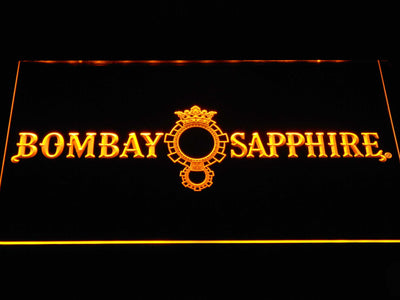 Bombay Sapphire LED Neon Sign - Yellow - SafeSpecial