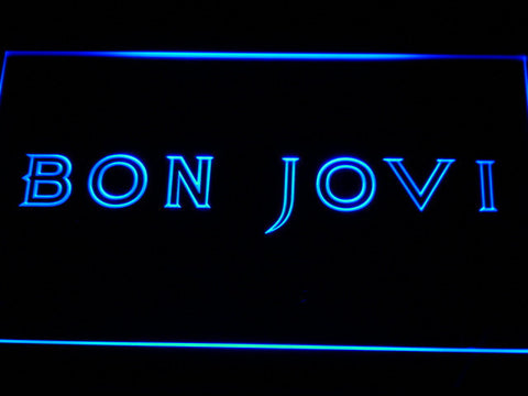 Bon Jovi LED Neon Sign - Blue - SafeSpecial