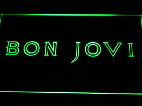 Bon Jovi LED Neon Sign - Green - SafeSpecial