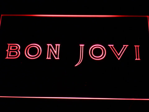 Bon Jovi LED Neon Sign - Red - SafeSpecial