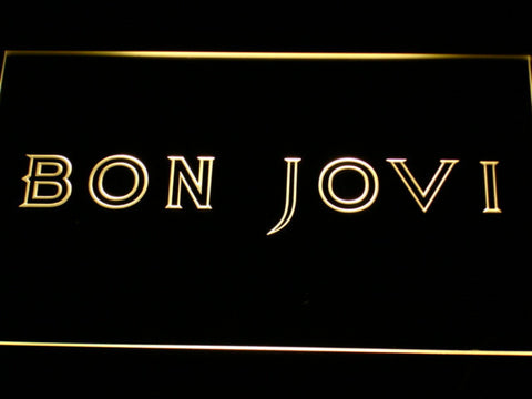 Bon Jovi LED Neon Sign - Yellow - SafeSpecial