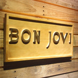 Bon Jovi Wooden Sign - - SafeSpecial