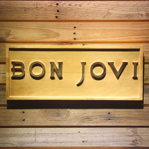 Bon Jovi Wooden Sign - Small - SafeSpecial