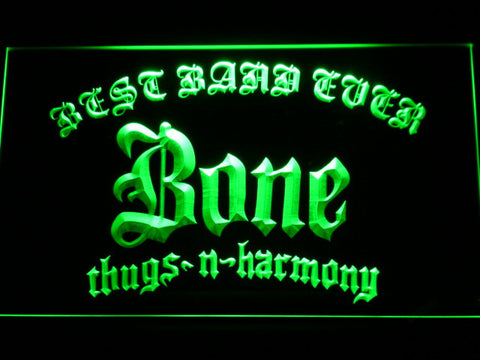 Bone Thugs N Harmony Best Band Ever LED Neon Sign - Green - SafeSpecial