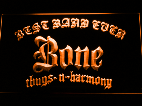 Bone Thugs N Harmony Best Band Ever LED Neon Sign - Orange - SafeSpecial
