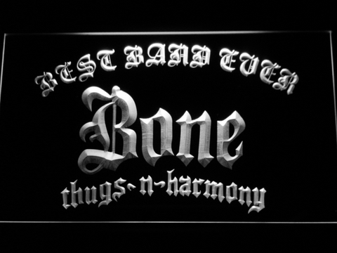 Bone Thugs N Harmony Best Band Ever LED Neon Sign - White - SafeSpecial