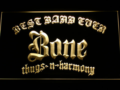 Bone Thugs N Harmony Best Band Ever LED Neon Sign - Yellow - SafeSpecial