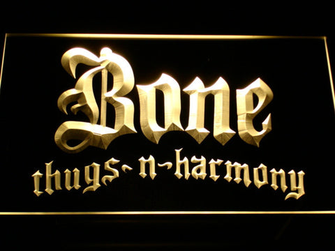 Bone Thugs N Harmony LED Neon Sign - Yellow - SafeSpecial