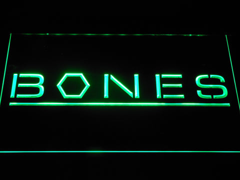 Bones LED Neon Sign - Green - SafeSpecial