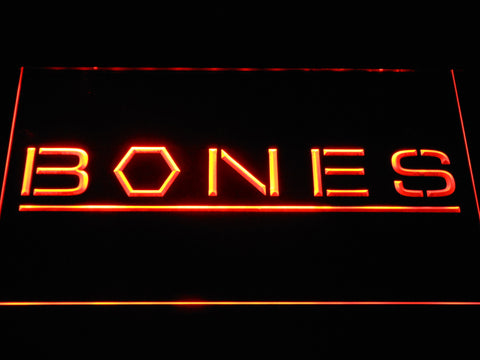 Bones LED Neon Sign - Orange - SafeSpecial