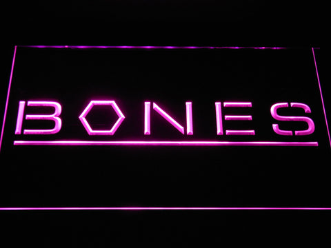 Bones LED Neon Sign - Purple - SafeSpecial