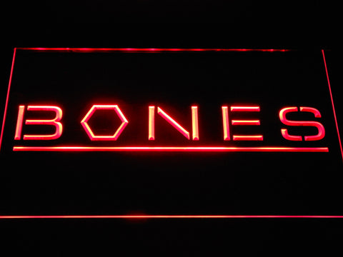 Bones LED Neon Sign - Red - SafeSpecial