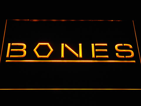 Bones LED Neon Sign - Yellow - SafeSpecial