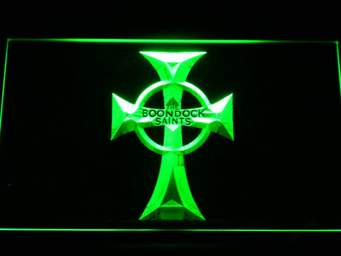 Boondock Saints Cross LED Neon Sign - Green - SafeSpecial