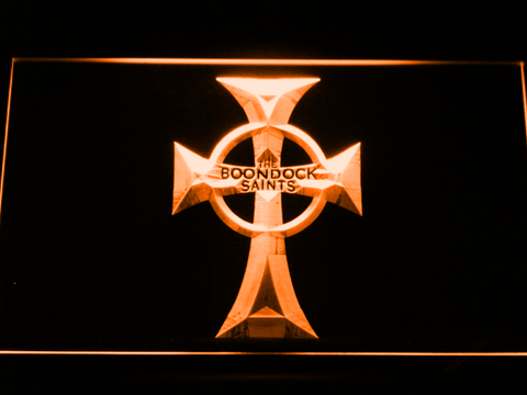 Boondock Saints Cross LED Neon Sign - Orange - SafeSpecial