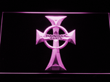 Boondock Saints Cross LED Neon Sign - Purple - SafeSpecial