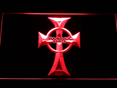 Boondock Saints Cross LED Neon Sign - Red - SafeSpecial