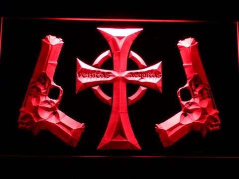 Image of Boondock Saints Guns and Cross LED Neon Sign - Red - SafeSpecial