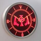 Boondock Saints Guns and Cross LED Neon Wall Clock - Red - SafeSpecial