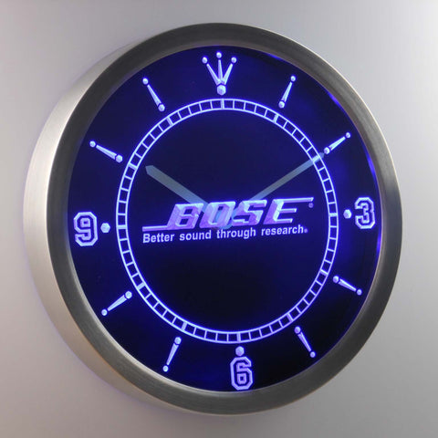 Bose LED Neon Wall Clock - Blue - SafeSpecial