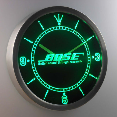 Bose LED Neon Wall Clock - Green - SafeSpecial