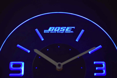 Image of Bose Modern LED Neon Wall Clock - Blue - SafeSpecial