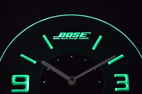 Image of Bose Modern LED Neon Wall Clock - Green - SafeSpecial