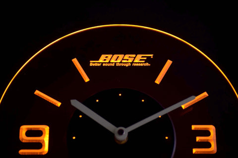 Image of Bose Modern LED Neon Wall Clock - Yellow - SafeSpecial