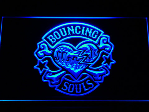 Bouncing Souls LED Neon Sign - Blue - SafeSpecial