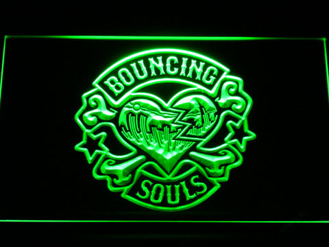 Bouncing Souls LED Neon Sign - Green - SafeSpecial