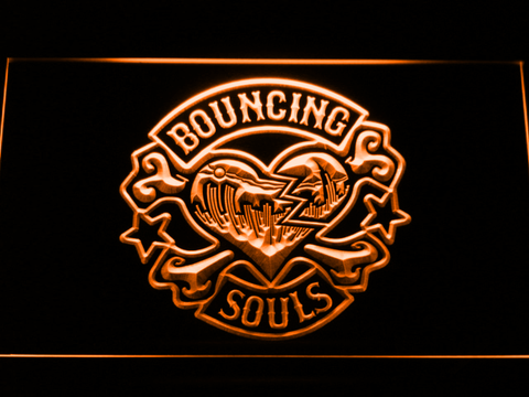 Bouncing Souls LED Neon Sign - Orange - SafeSpecial