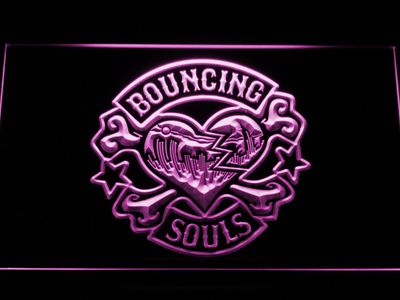 Bouncing Souls LED Neon Sign - Purple - SafeSpecial