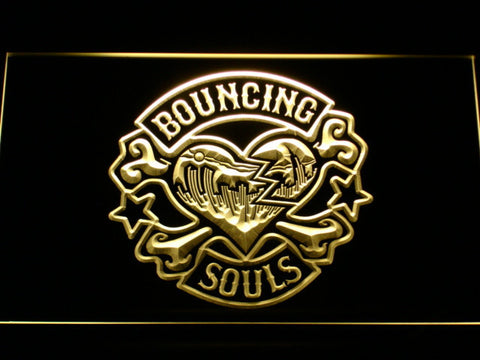 Bouncing Souls LED Neon Sign - Yellow - SafeSpecial