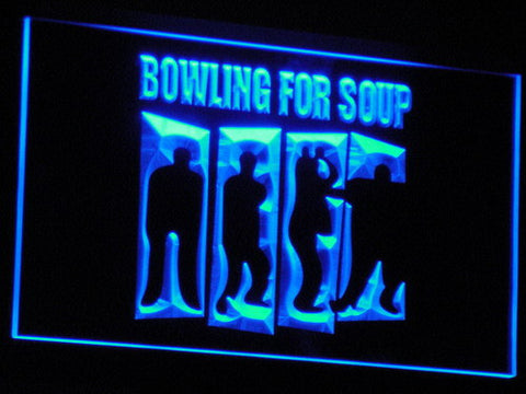 Bowling For Soup LED Neon Sign - Blue - SafeSpecial