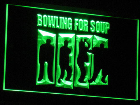 Bowling For Soup LED Neon Sign - Green - SafeSpecial