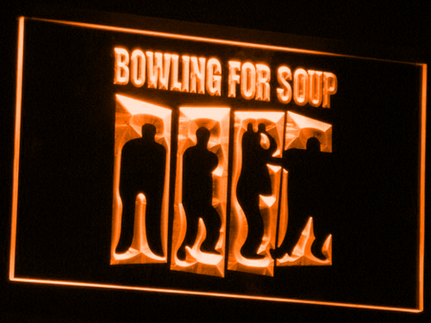 Bowling For Soup LED Neon Sign - Orange - SafeSpecial