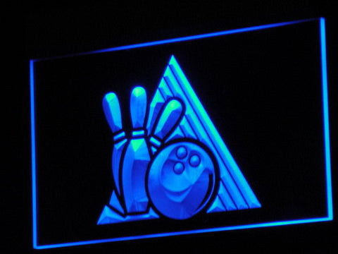Bowling LED Neon Sign - Blue - SafeSpecial