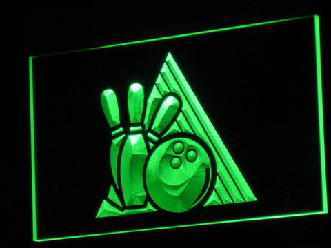 Bowling LED Neon Sign - Green - SafeSpecial