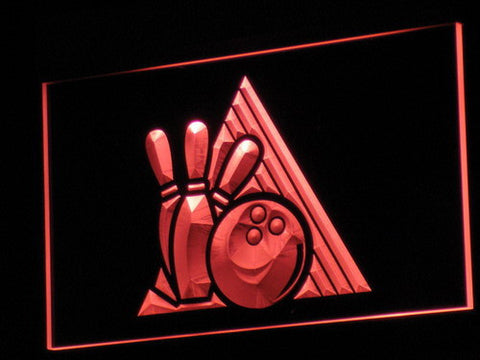Bowling LED Neon Sign - Red - SafeSpecial