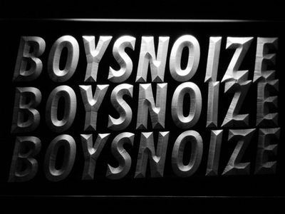 Boys Noize LED Neon Sign - White - SafeSpecial