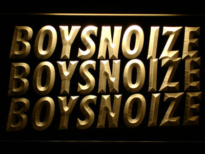 Boys Noize LED Neon Sign - Yellow - SafeSpecial